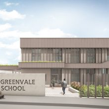 Greenvale Special School new building architect drawing in Forest hill, front elevation