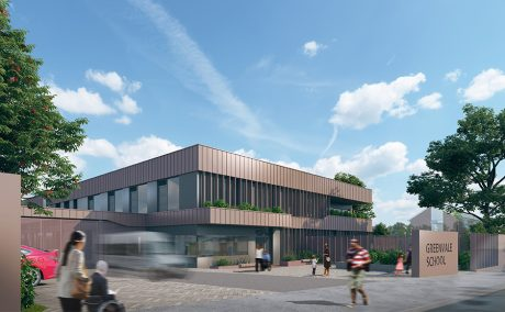Image showing the front elevation of the new Greenvale school in SE23