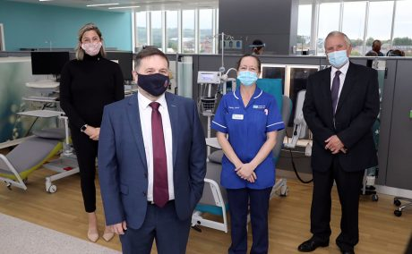 NI Health Minister and staff at opening of Macmillan Unit Ulster Hospital